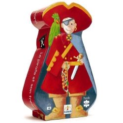 Puzzle silhouette le pirate et son trésor 36 pièces