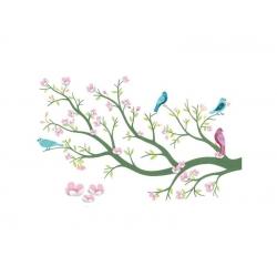 Stickers 3D Cerisier en fleurs