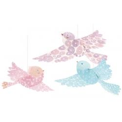 Décorations à suspendre oiseaux paillettes