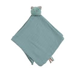 Les Pachats Doudou lange chat bleu