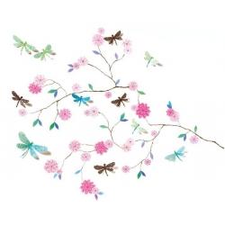 Stickers muraux Arbre aux libellules