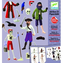 Stickers paperdolls Pirates