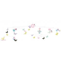 Mobile ronde des papillons