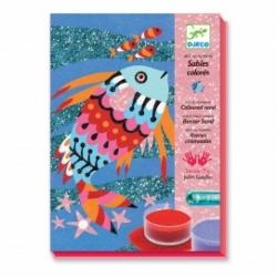 Sables colorés arc-en-ciel de poissons