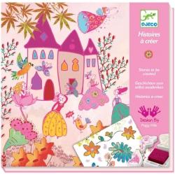 Histoires à créer princesses tampons et pochoirs