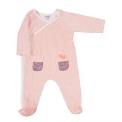 Pyjama Neige rose chiné 3m