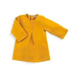 Robe Noa moutarde 12m
