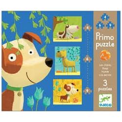 Puzzle primo les chiens 4, 6, 9 pièces