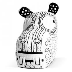 Hippopotame à colorier