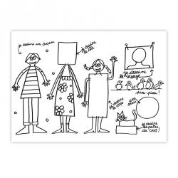 Set de table à colorier famille