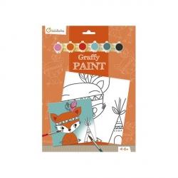 Graffy paint Renard indien