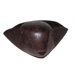 Chapeau pirate tricorne Effet cuir