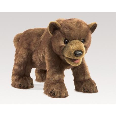 Marionnette bébé ours brun