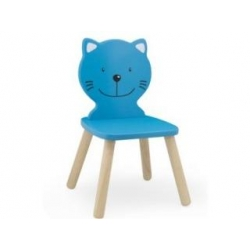Chaise chat bleu