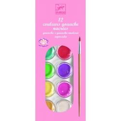Gouache 12 pastilles de couleurs nacrées