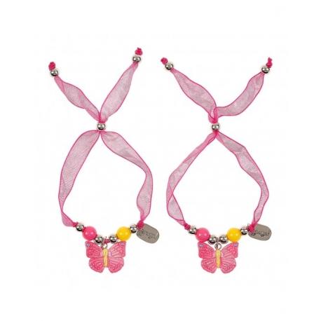 Bracelets d'amitié Maryse Fushia