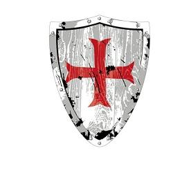 Bouclier chevalier templier
