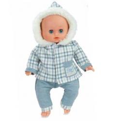 """Habillage"""" boule de neige"""" pour bébé 28cm"""