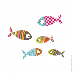Stickers poissons 2