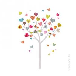 Sticker l'arbre à coeurs