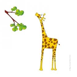 Sticker Madame la girafe