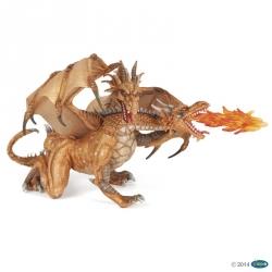 Dragon 2 têtes doré