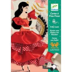 Cartes à frou-frous flamenco