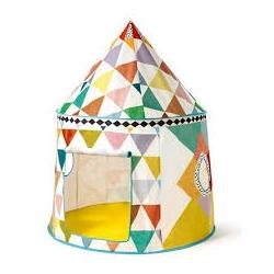 Tente cabane multicolore