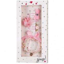 Coffret cadeau bijoux rose/blanc