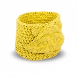 Panier tressé jaune