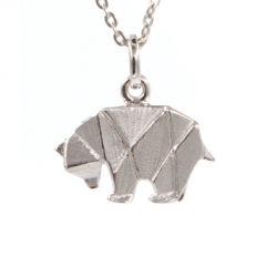 Bijoux Origami Collier Ours