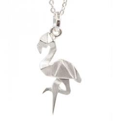Bijoux Origami Collier Flamant rose