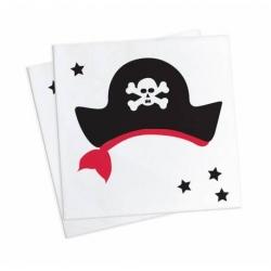 Serviettes pirate 25 cm x 25 cm 20 pièces