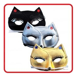 Masque chat doré