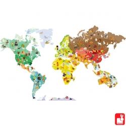 Stickers magnétique Le monde