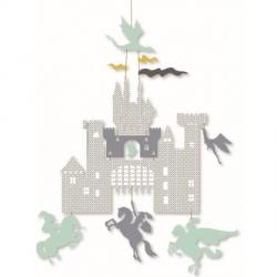 Mini-mobile papier - Château et dragons