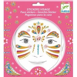 Tatouage - Stickers visage Princesse or