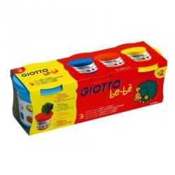 Giotto - Pâte à modeler jaune-bleu-rouge