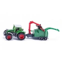 Siku O Tracteur avec broyeur de branches