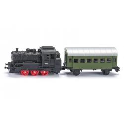 Siku O Loco à vapeur avec wagon voyageurs