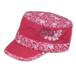 Casquette Mao Fleur rose 49