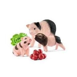 Cochon nain et cochonnets