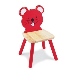 Chaise souris rouge