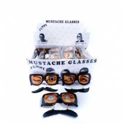 Lunettes avec moustache