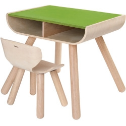 Table et chaise vert