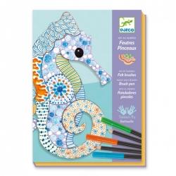 Feutres et crayons de couleurs - L'art du motif