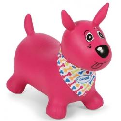 Sauteur chien rose