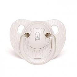 Tétine silicone 0/6 mois grey bear