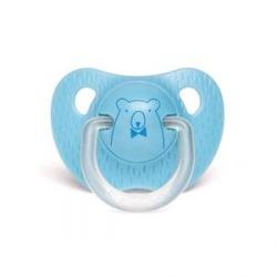 Tétine silicone 0/6 mois blue bear