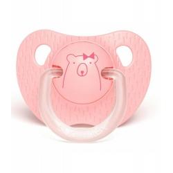 Tétine silicone 0/6 mois pink bear